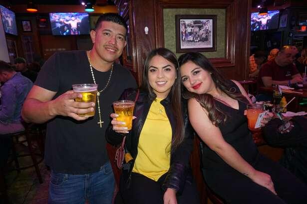 Eddie Cardenas, Kassy Garza and Lucia Pena at The Tilted Kilt Pub & Eatery