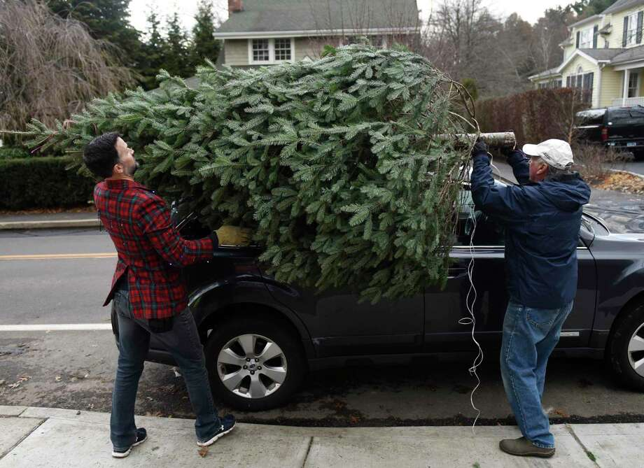 The First Congregational Church in Old Greenwich is gearing up for its annual tree and wreath sale. The popular sale will begin Saturday, running from 9 a.m. to 6 p.m. on the front lawn of the church at 108 Sound Beach Ave., across from Binney Park. Proceeds will again go toward local charities. Want to get first pick? At 8 a.m. Sunday, more than 500 New Hampshire-grown trees will be loaded off a delivery truck and set out on the church's front lawn. Once the delivery is done, the sale will begin. Photo: File / Tyler Sizemore / Hearst Connecticut Media / Greenwich Time