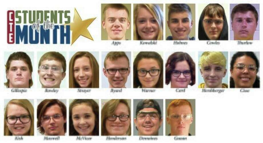 The Clare-Gladwin Regional Education Service District's Career & Technical Education program recently announced its students of the month. (Image provided)