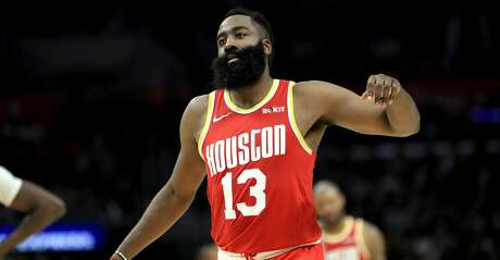 LOS ANGELES, CALIFORNIA - NOVEMBER 22: James Harden #13 of the Houston Rockets reacts to being called for a foul during the second half of a game against the Los Angeles Clippers at Staples Center on November 22, 2019 in Los Angeles, California. NOTE TO USER: User expressly acknowledges and agrees that, by downloading and/or using this photograph, user is consenting to the terms and conditions of the Getty Images License Agreement (Photo by Sean M. Haffey/Getty Images)