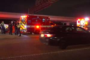 A man was killed after he was struck by a vehicle on Gulf Freeway near the Cullen exit early Saturday morning.