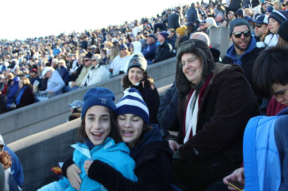 The annual football game between rivals Yale and Harvard took place this weekend at the Yale Bowl on November 23, 2019. Were you SEEN in the stands? Photo: Jenna Seward