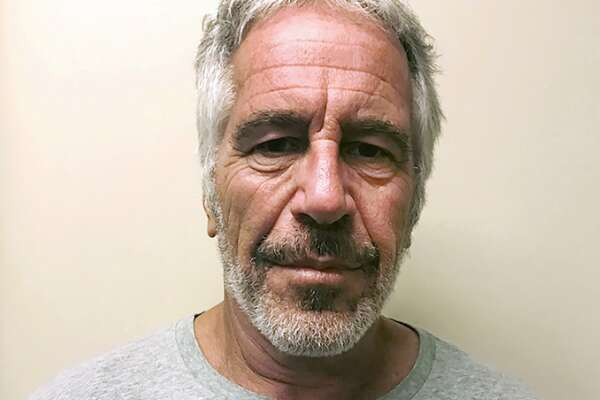 """FILE - This March 28, 2017, file photo, provided by the New York State Sex Offender Registry, shows Jeffrey Epstein. Attorney General William Barr says Jeffrey Epstein's death was the result of a """"perfect storm of screw-ups."""" Barr's comments in an interview Thursday with The Associated Press come days after two New York correctional officers responsible for guarding Epstein were charged with falsifying prison records. (New York State Sex Offender Registry via AP, File)"""