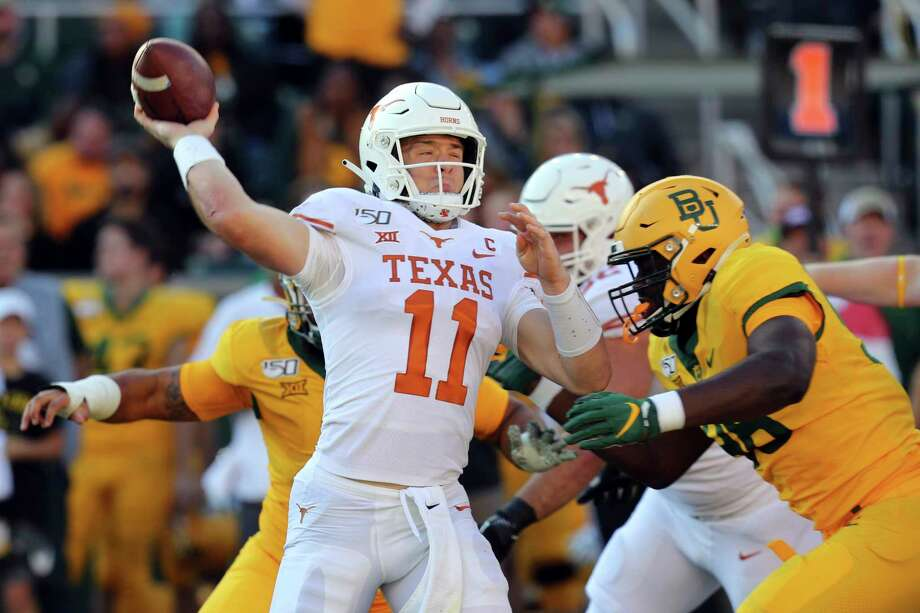 Texas quarterback Sam Ehlinger (11) looks to pass against Baylor in an NCAA college football game Saturday, Nov. 23, 2019, in Waco, Texas. (AP Photo/Richard W. Rodriguez) Photo: Richard W. Rodriguez, Associated Press / Copyright 2019 The Associated Press. All rights reserved.