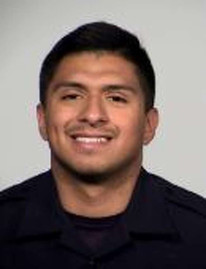Jonathan Montalvo, an off-duty San Antonio Police officer was arrested Saturday afternoon. Photo: Courtesy