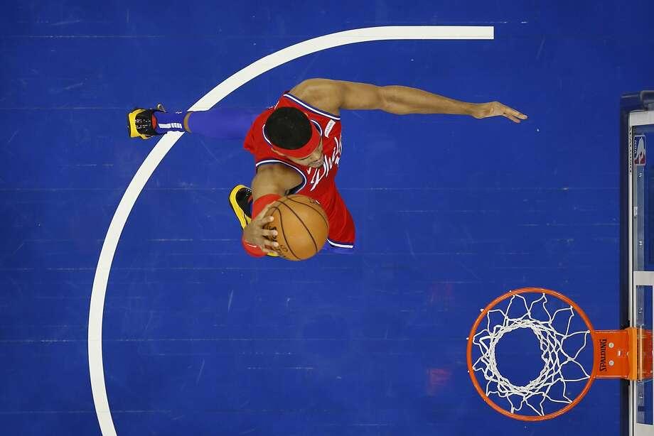 Philadelphia 76ers' Tobias Harris plays during an NBA basketball game against the Miami Heat, Saturday, Nov. 23, 2019, in Philadelphia. (AP Photo/Matt Slocum) Photo: Matt Slocum / Associated Press
