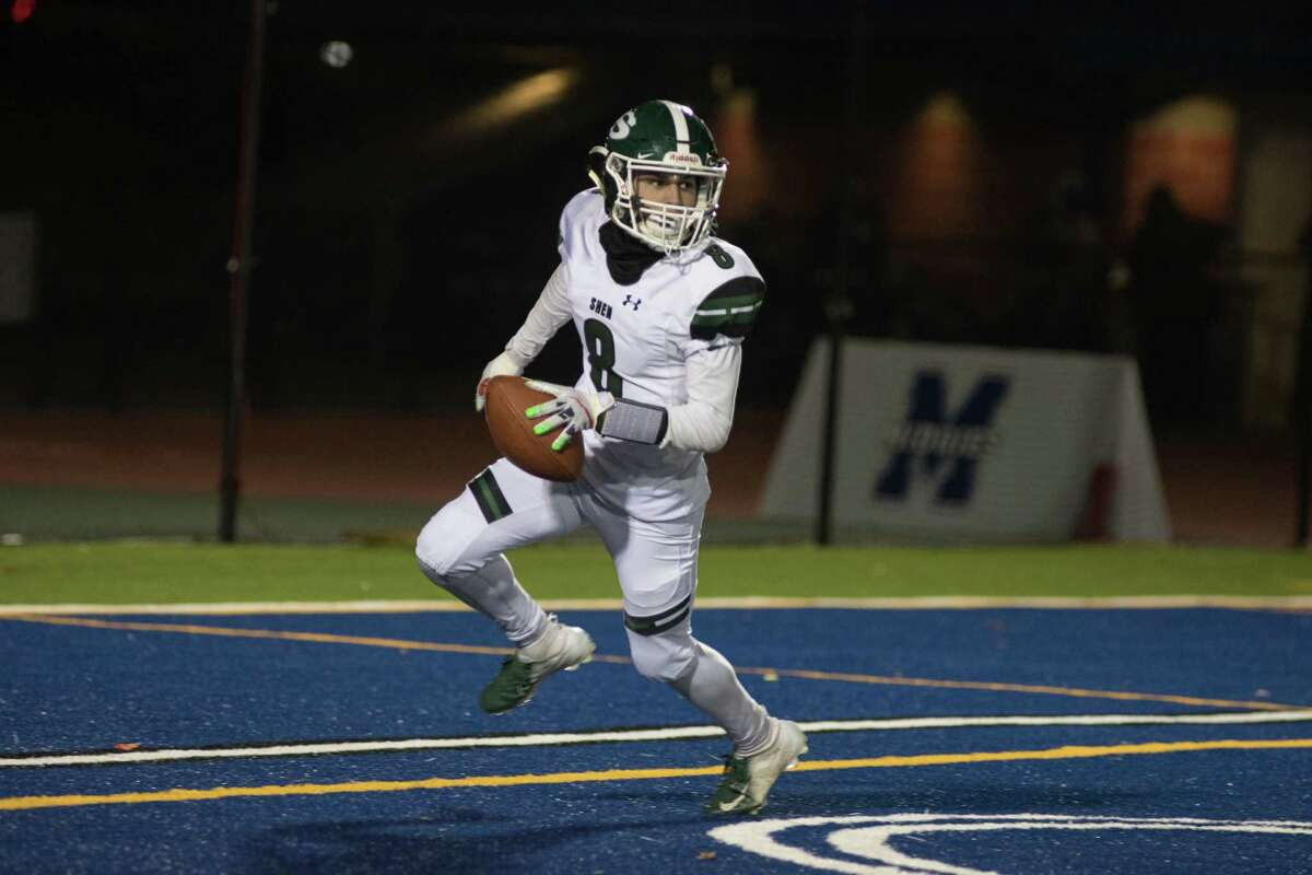 Shenendehowa's Joshua Szwarcberg runs the ball in for a touchdown in the NYSPHSAA Class AA Football East Semifinals in Middletown, NY on November 23, 2019.