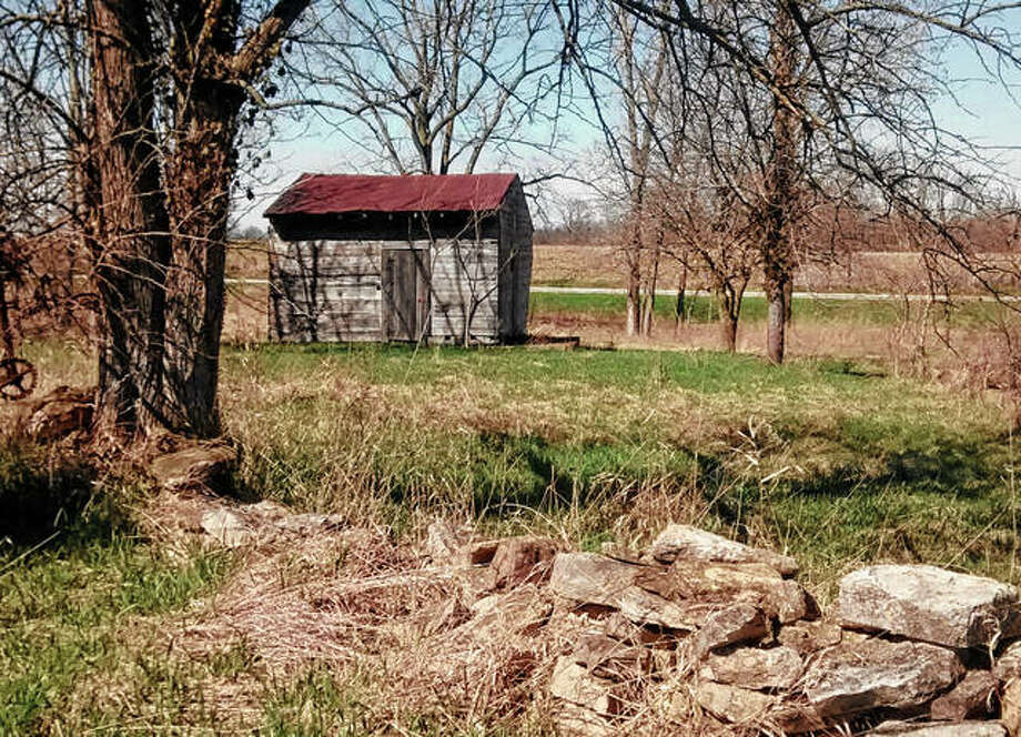 A period cabin sits on the New Philadelphia site near Barry. Photo: Photo Provided