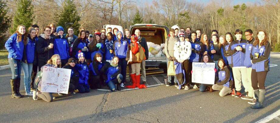 The Darien High School band is holding its annual turkey drive is taking place on Nov. 26 from 7 to 8 a.m. Photo: Contributed