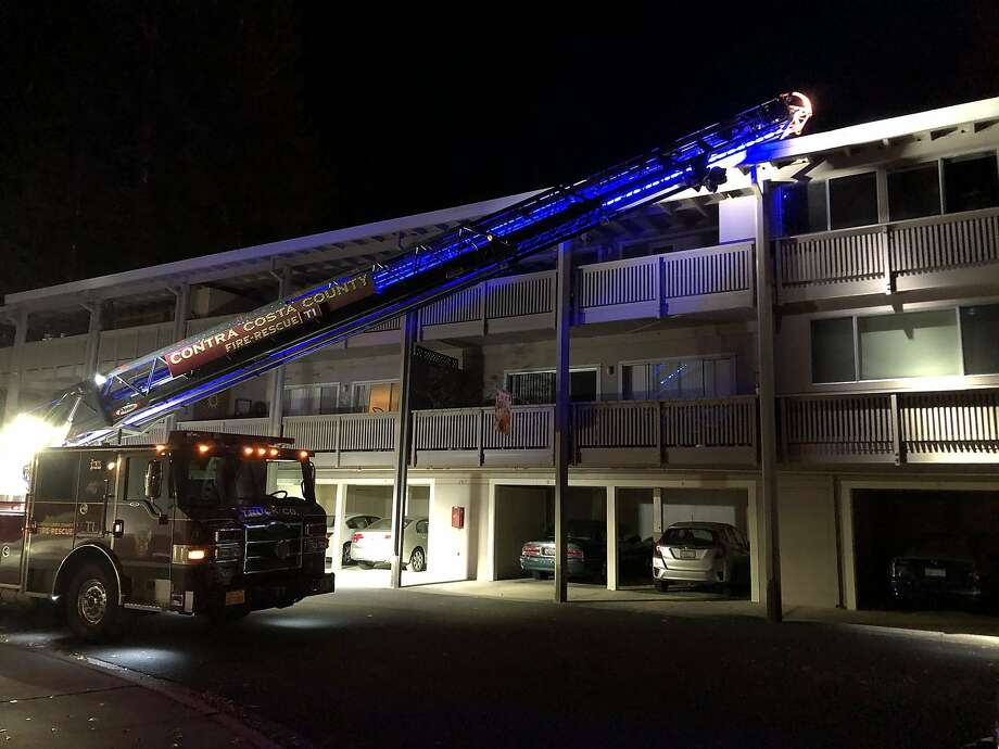 One person died Saturday night in a fire at the Rossmoor retirement community in Walnut Creek. Photo: Contra Costa County Fire Protection District