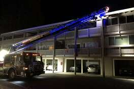 One person died Saturday night in a fire at the Rossmoor retirement community in Walnut Creek. The victim was not identified.