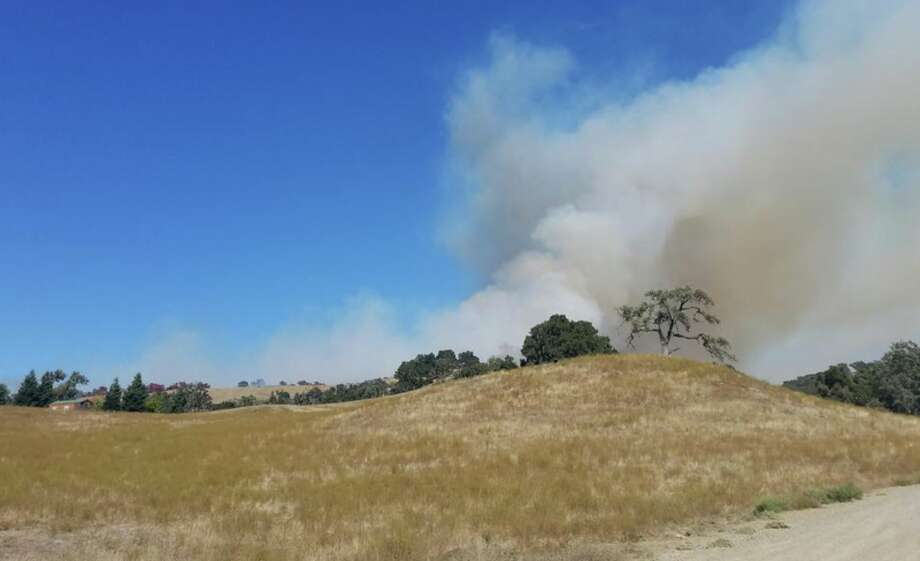 The Huasna Fire burned 245 acres in Arroyo Grande in 2017. Photo: CAL FIRE SLO County Fire