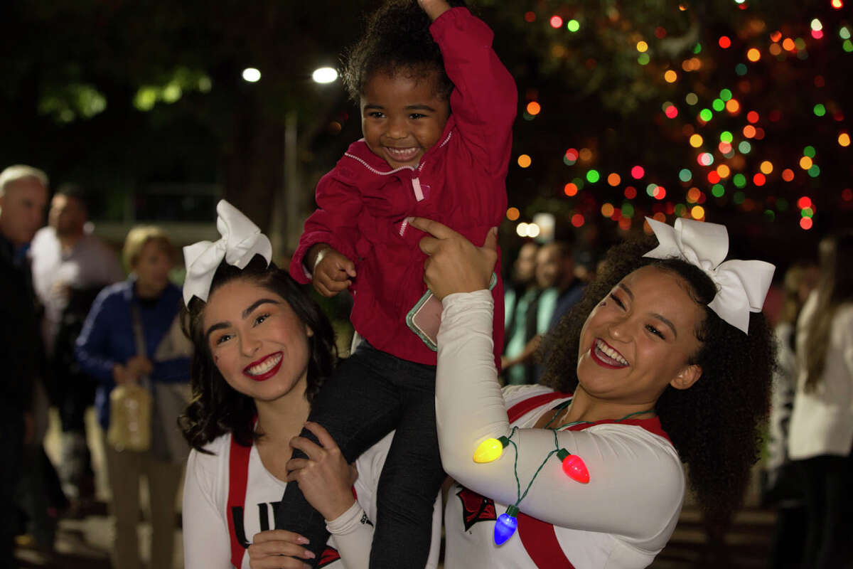 San Antonians came out to see UIW's annual Light the Way ceremony on Saturday, November 23, 2019.