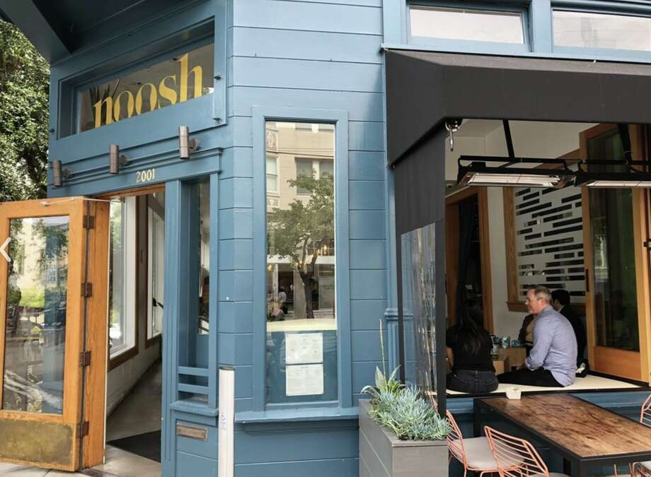 The exterior of Noosh, where executive chefs Laura and Sayat Ozyilmaz were terminated from working last week following a lawsuit alleging breach of contract and fraud. The couple denied such claims. Photo: Andrew L. Via Yelp