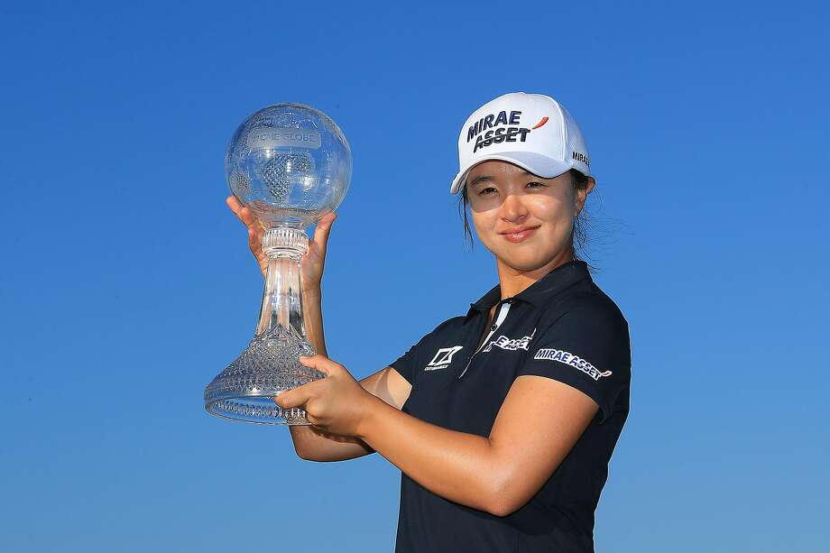 Sei Young Kim of South Korea poses with the CME Globe trophy after winning the CME Group Tour Championship at Tiburon Golf Club on November 24, 2019 in Naples, Florida. (Photo by Sam Greenwood/Getty Images) Photo: Sam Greenwood / Getty Images