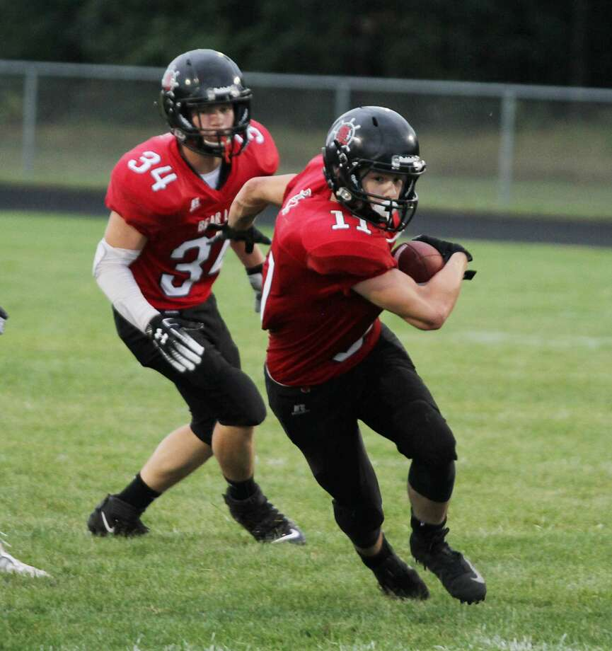 Bear Lake's Quentin Ruiz and Dalton Myersearned second-team all-conference honors for their efforts on the gridiron. Photo: News Advocate File Photo