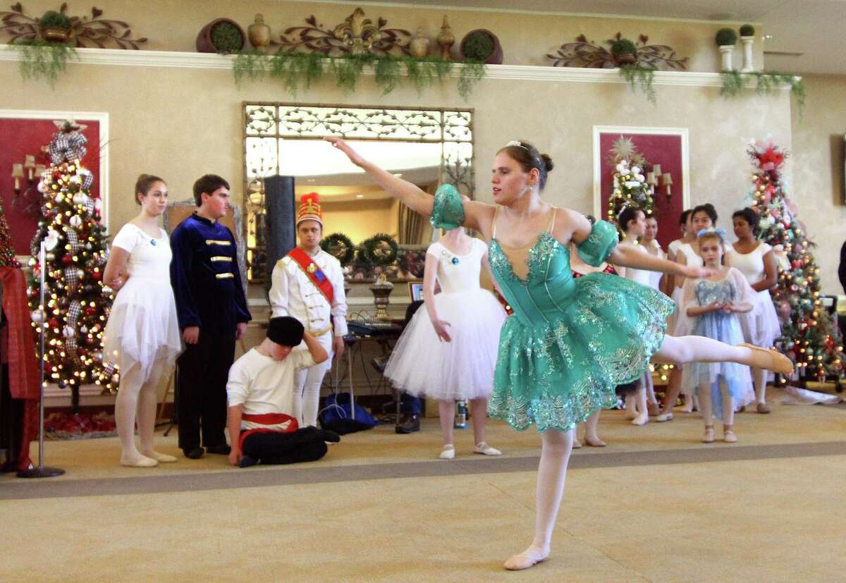 Dancer Valeria Asprelli, with the Little Wing Adaptive Ballet Company, performs a portion of the Nutcracker during the Holiday Fantasy of Trees event at St. Barbara Greek Orthodox Church in Orange on Nov. 16