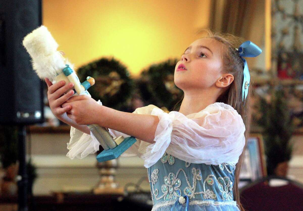 Dancer Maeve O'Shaughnessey, 9, with the Little Wing Adaptive Ballet Company, performs a portion of the Nutcracker during the Holiday Fantasy of Trees event at St. Barbara Greek Orthodox Church in Orange on Nov. 16.