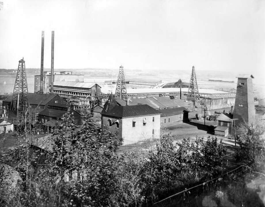 The R.G. Peters Sawmill in Manistee, pictured circa 1890s, and was one of Manistee's many large sawmills located in the area.