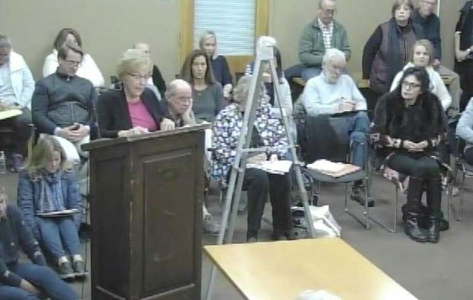The Nov. 20 Parks & Recreation Commission meeting had a full house. Photo: Darien TV79 / Connecticut Post