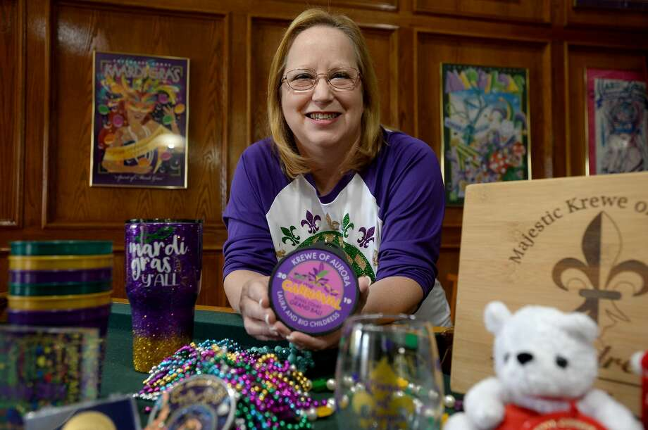 Laura Childress, a founding member of the Majestic Krewe of Aurora who has been active in the Mardi Gras festival and parade in Port Arthur since its inception in 1993, is now working on the details for its venue change to Beaumont. Photo taken Thursday, November 21, 2019 Kim Brent/The Enterprise Photo: Kim Brent/The Enterprise