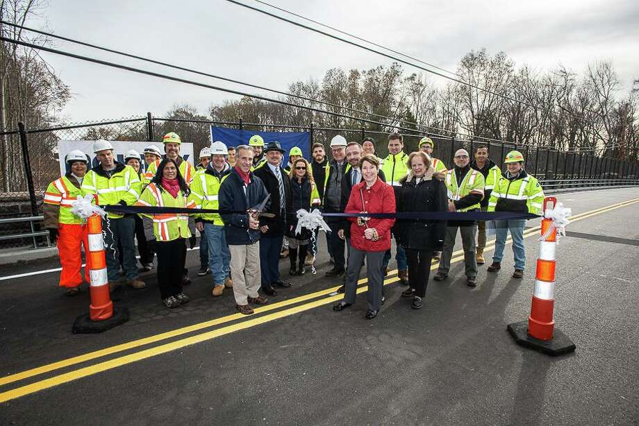 The Conservancy recently celebrated the ahead-of-schedule reopening of the restructured and restored Lake Avenue bridge in Greenwich. Photo: Contributed / Tod Bryant For Merritt Parkway Conservancy / 2019