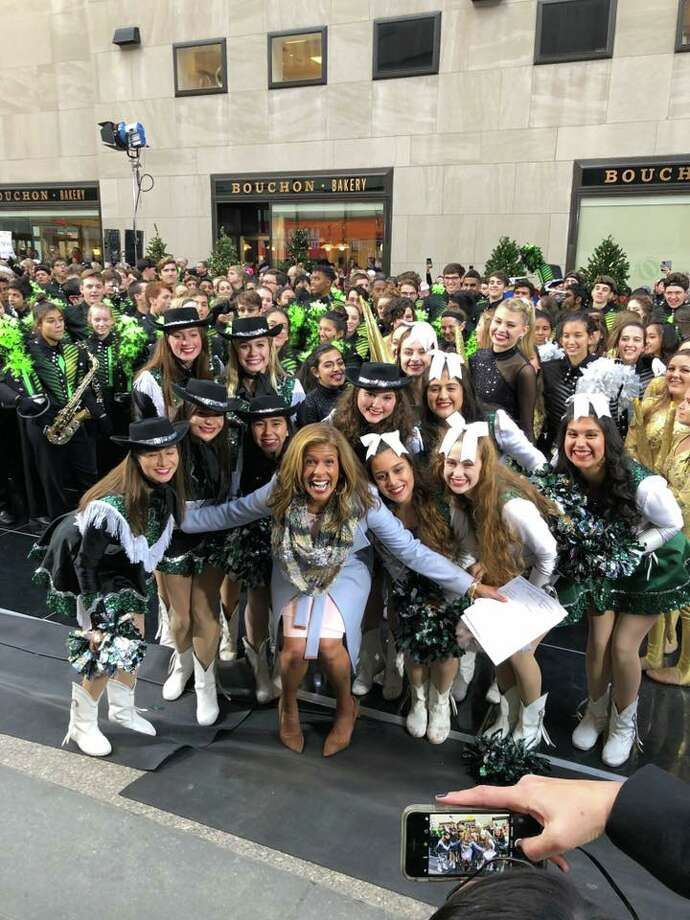 """Reagan High School's marching band and dancers stopped by the """"Today Show"""" Monday morning while in NYC for the Macy's Thanksgiving Day Parade. Photo: NEISD"""