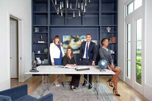Martha Turner Sotheby's International Realty's relocation team is (left to right) Jennifer Dent (senior relocation specialist), Tess Chaney (relocation director), Leon Ortiz (senior relocation specialist), Naseeka Cox (senior relocation specialist).