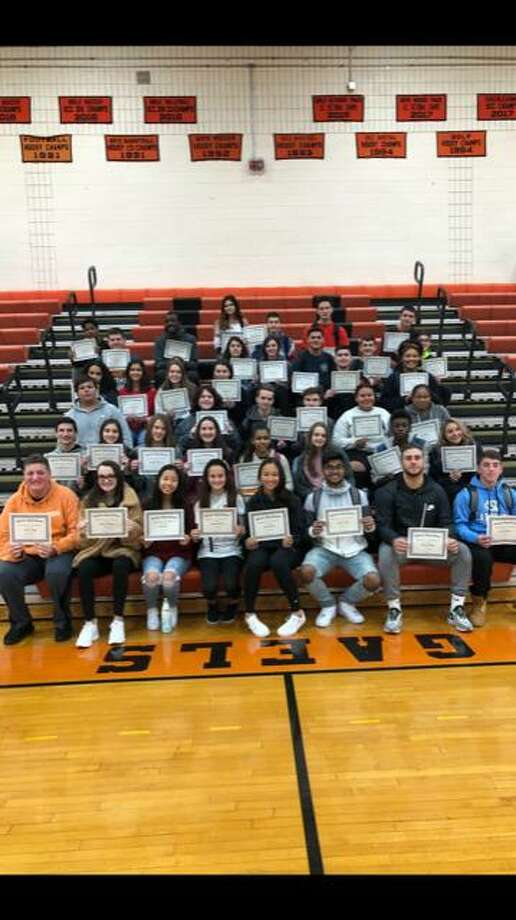 Shelton High School recently announced its students of the month for October 2019. Photo: Contributed Photo / Connecticut Post