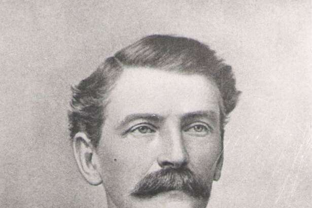 The founder of the town, Isaac Conroe. This week in 1883 Conroe became the town's first postmaster.