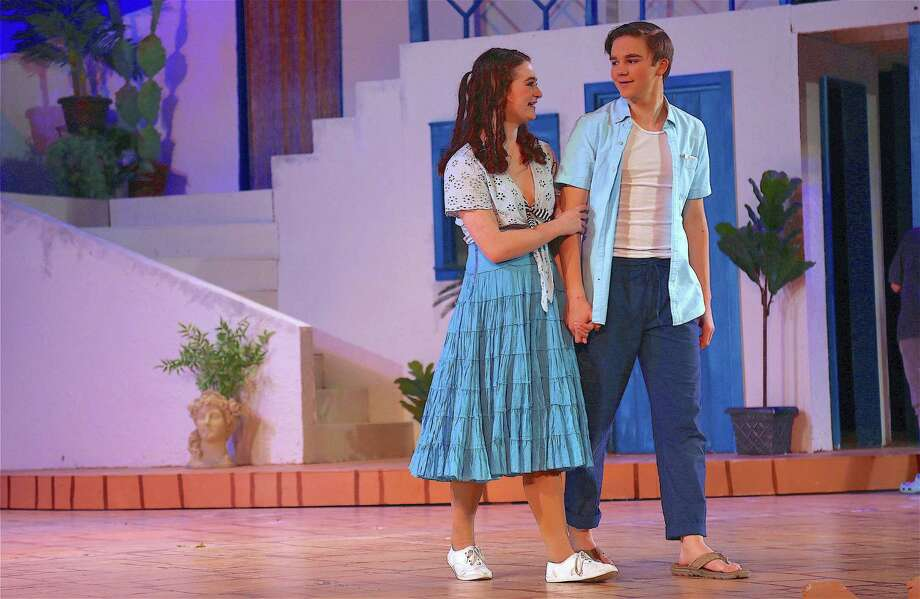 "Actors Sophie Rossman and Colin Konstanty at the performance of ""Mamma Mia!"" by the Staples High School Players on Nov. 23, 2019, in Westport. Photo: Jarret Liotta / For Hearst Connecticut Media / Jarret Liotta / ©Jarret Liotta"