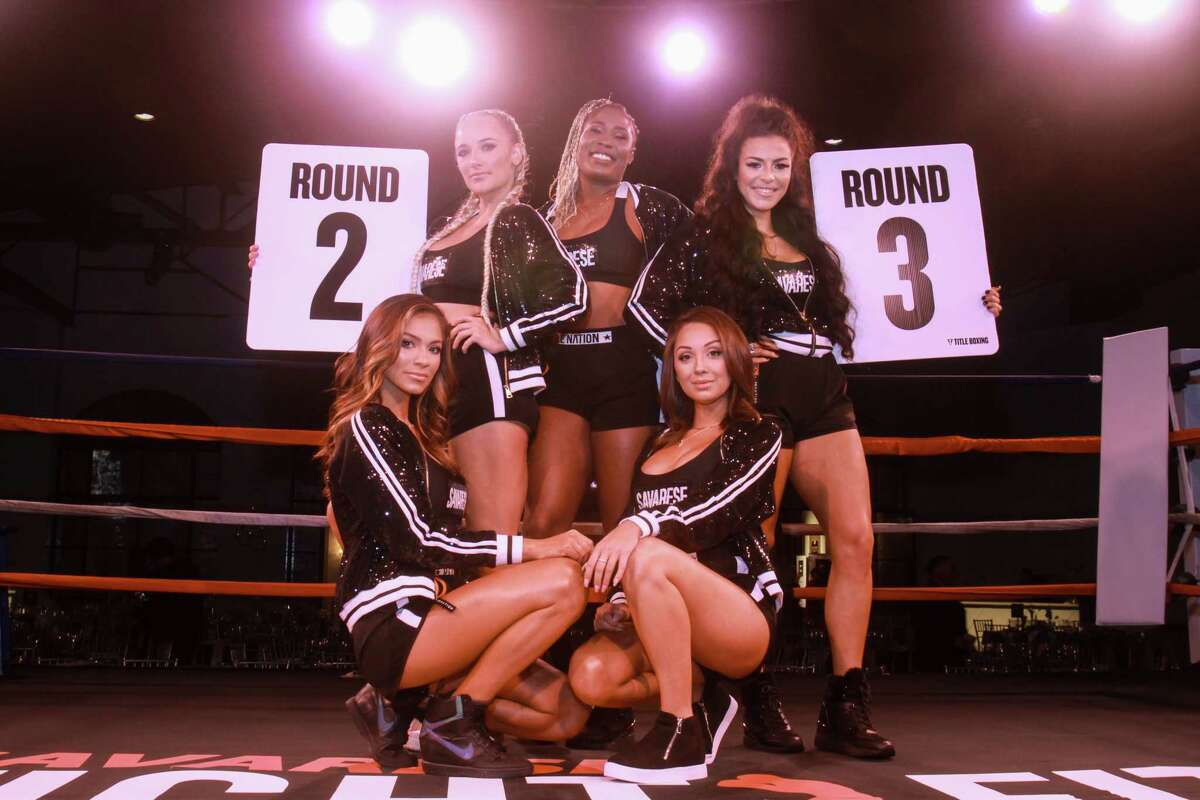 Ring girls at black-tie boxing, benefiting Hope Rising and Houston20 at the Revaire on November 21, 2019.