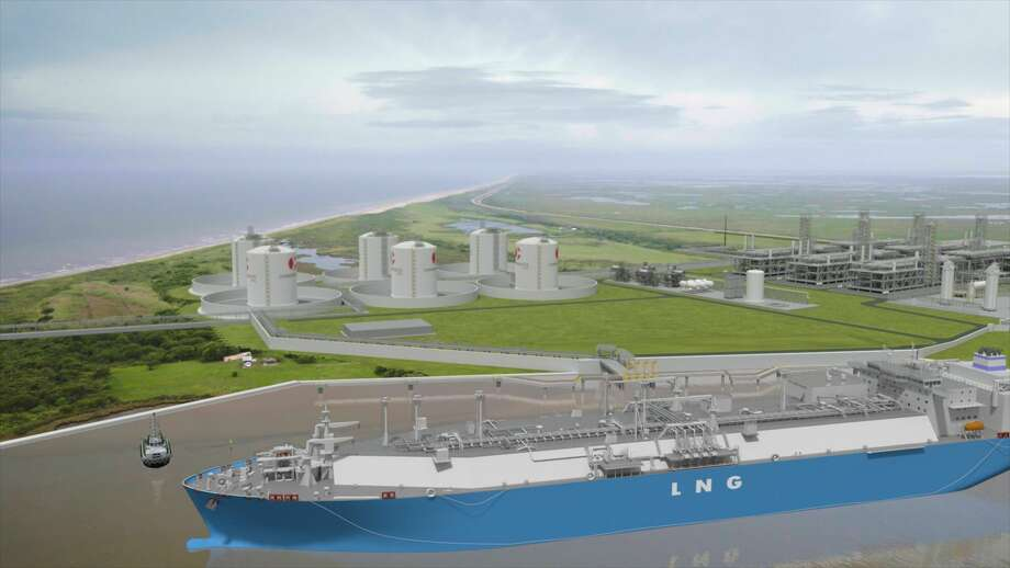 Houston liquefied natural gas company Commonwealth LNG is seeking permission from the Federal Energy Regulatory Commission to build an export terminal at the mouth of the Calcasieu Ship Channel along the Gulf of Mexico in Louisiana.  Photo: Commonwealth LNG
