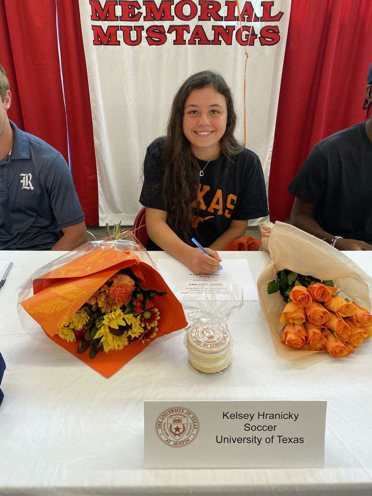 Memorial senior Kelsey Hranicky signed a National Letter of Intent to attend and play soccer at the University of Texas.