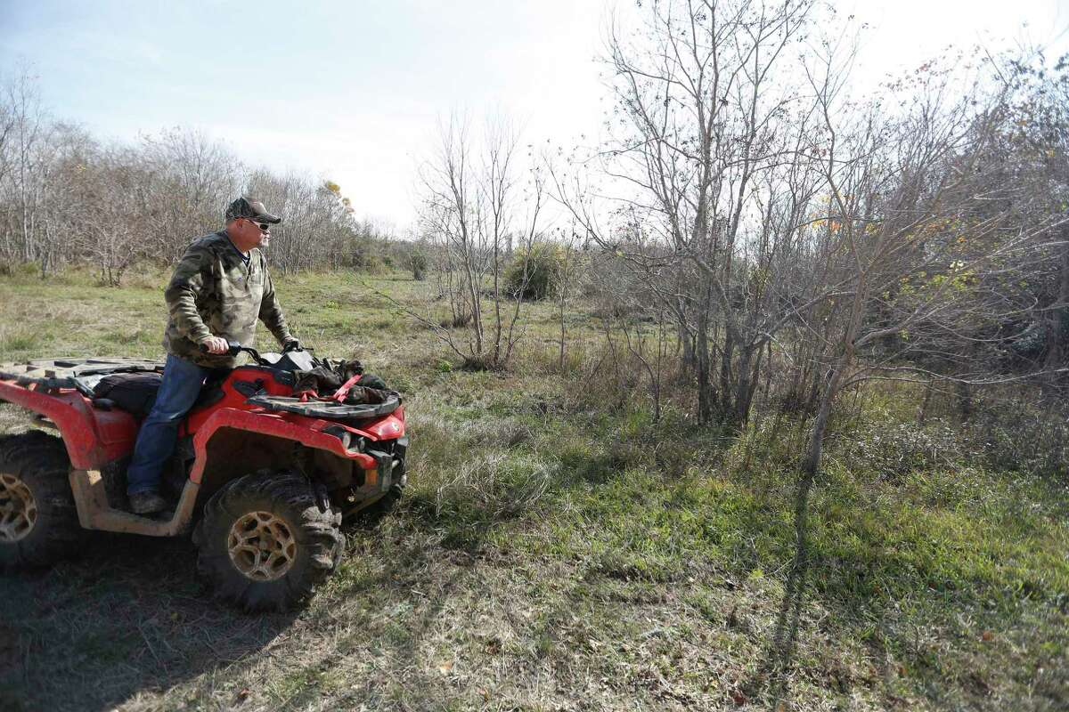 An Equusearch member on an ATV searches for Anne-Christine Johnson, a missing 30-year-old woman, Thursday,Dec. 15, 2016 in League City. ( Karen Warren / Houston Chronicle )