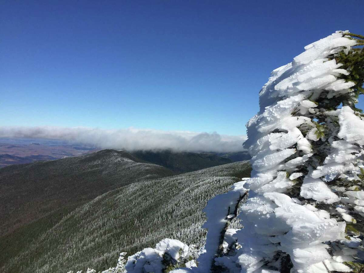 Rob McWilliams had a frosty day at Carter Dome when he hiked the White Mountains.