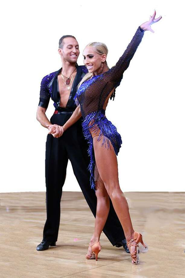 Pasha Stepanchuk and Gabrielle Sabler will perform a Latin ballroom routine in Bridgeport on Nov. 30. Photo: Bob Beslove / Contributed Photo