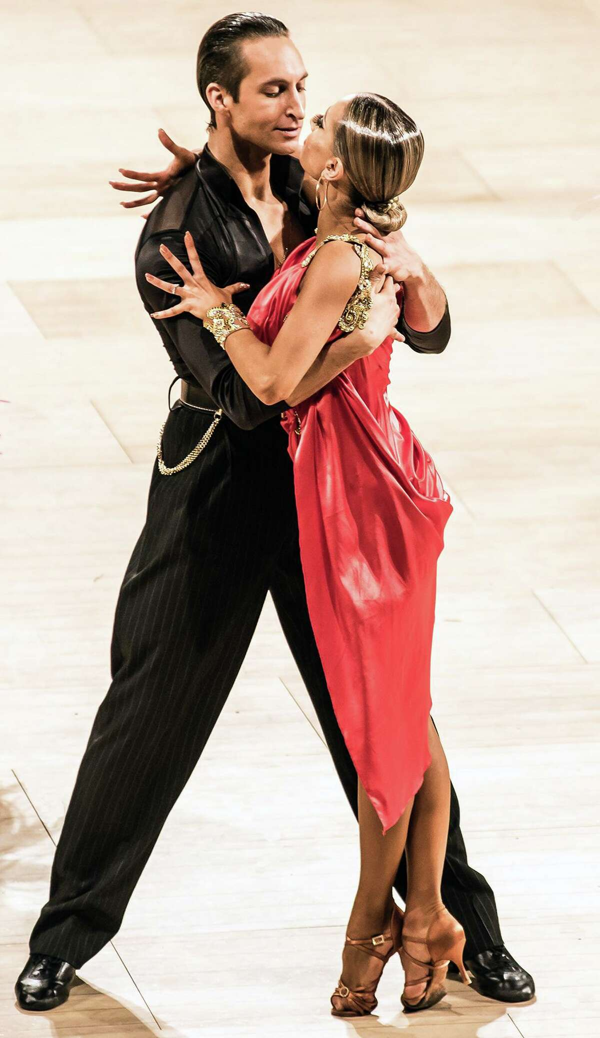 Pasha Stepanchuk and Gabrielle Sabler will perform a Latin ballroom routine in Bridgeport on Nov. 30.