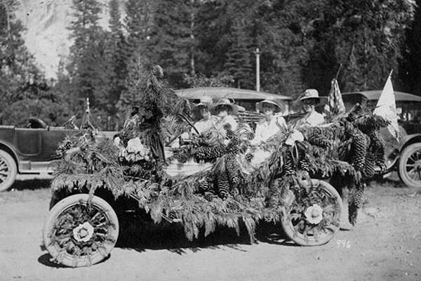 A 4th of July parade through the old Yosemite Village.
