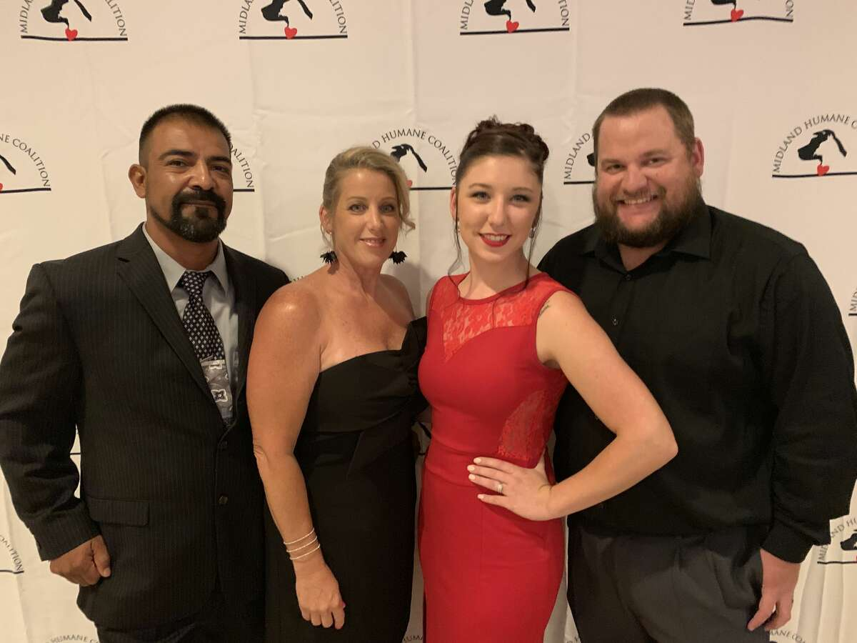 Furr Ball: Edward and Topsanna Leyva, from left, and Courtni and D.J. Pyle