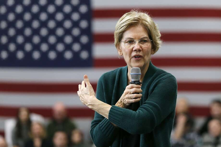 Democratic presidential candidate Sen. Elizabeth Warren, D-Mass., gestures as she speaks during a campaign stop, Saturday, Nov. 23, 2019, in Manchester, N.H. (AP Photo/Mary Schwalm) Photo: Mary Schwalm / Associated Press