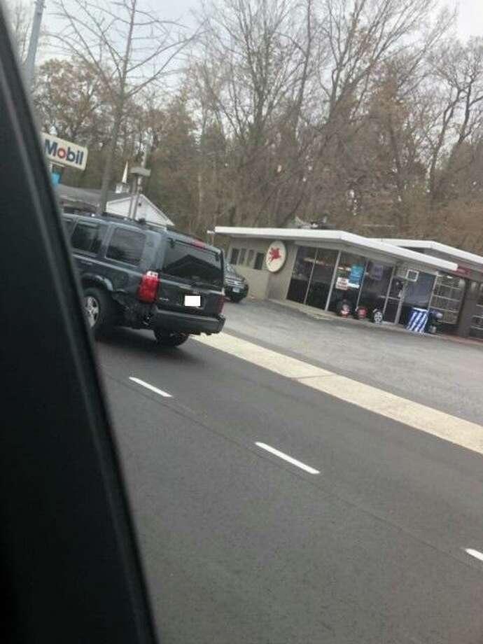 The suspect's vehicle. Photo: Westport Police
