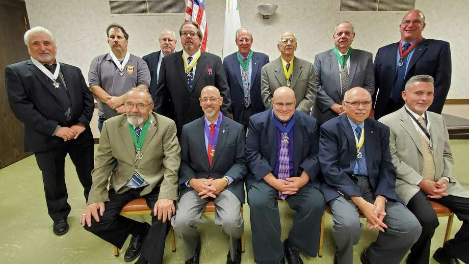 The North Haven Knights of Columbus recently installed its officers for the 2019-20 year. Photo: Contributed Photo