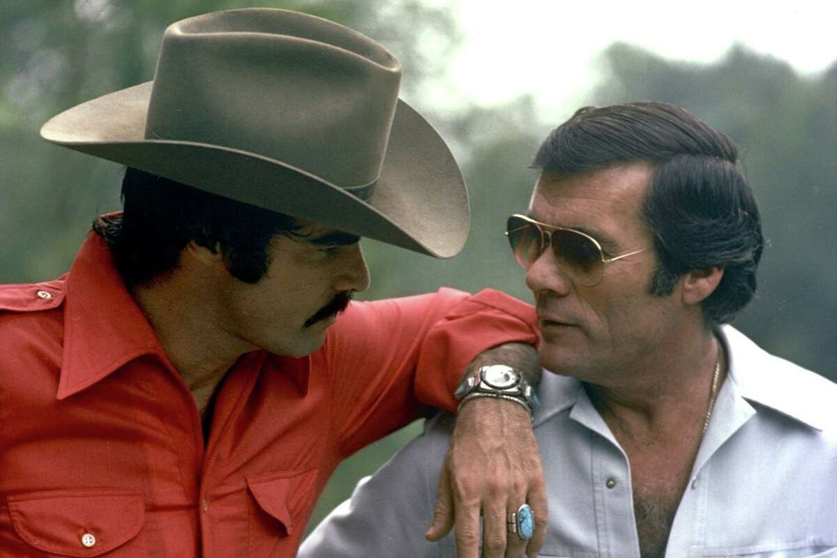 "Burt Reynolds and Hal Needham in Jesse Moss's ""The Bandit."""
