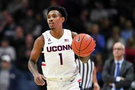 Christian Vital and the UConn men's basketball team hosts Iona on Wednesday.