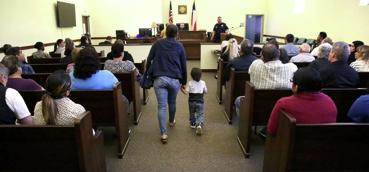 Judge Ciro Rodriguez presides over the eviction court for Bexar County Precinct 1. With evictions posing a growing threat to San Antonio families, local leaders have pushed for a program to ensure tenants have legal counsel.