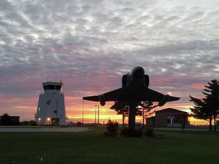 A file photo of a sunset at St. Louis Regional Airport in East Alton.