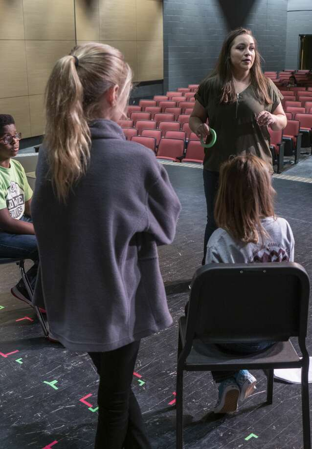 Davina Fangman works with her theater students 10/25/19 at Bowie Fine Arts Academy. Tim Fischer/Reporter-Telegram Photo: Tim Fischer/Midland Reporter-Telegram