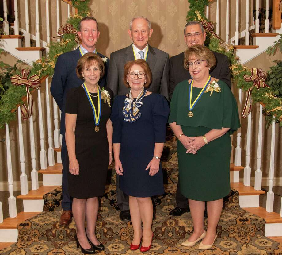 John Janco, Diane Libby, Kevin Sullivan and Tim & Susan Cook received the Paul Harris Recognition by the Rotary Club of Torrington & Winsted on Nov. 20. Photo: Cathy Coyle / Contributed Photo / Steven zarrella