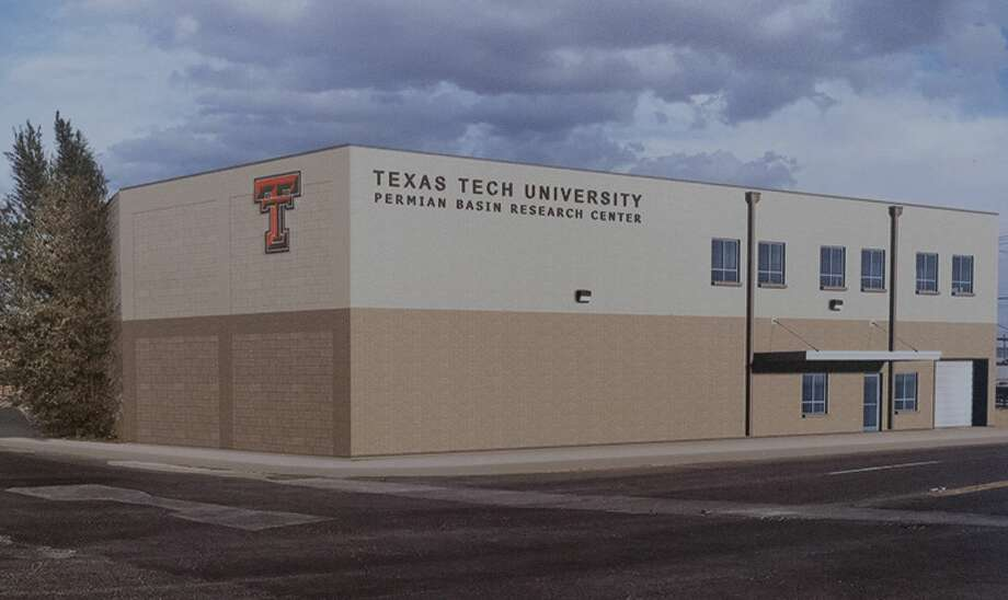 Renderings of the new Texas Tech University Permian Basin Research Facility 11/25/19 at the old ExxonMobil rock and core sample warehouse in Midland. Tim Fischer/Reporter-Telegram Photo: Tim Fischer/Midland Reporter-Telegram